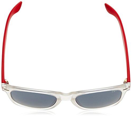 Dice Lunettes de soleil Taille unique Clear/Hot Red hVym1k