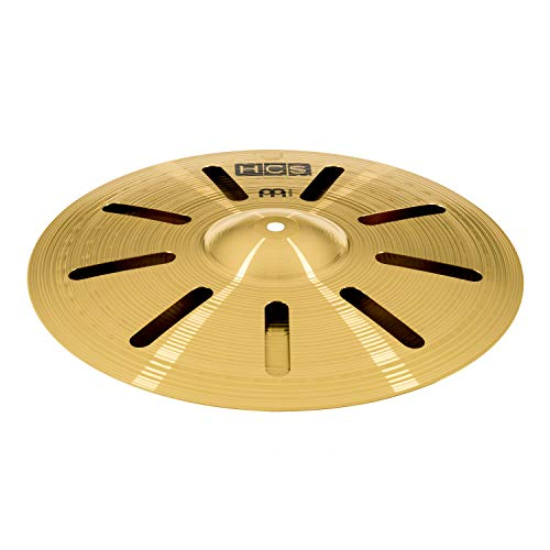 "Meinl 14"" Trash Stack Cymbal Pair with Holes - HCS Traditional Finish Brass for Drum Set, Made In Germany, 2-YEAR WARRANTY (HCS14TRS)"