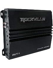Rockville RVT-1 1000w Peak/250w Dyno-Certified RMS 2 Channel Car Amplifier Stereo Amp