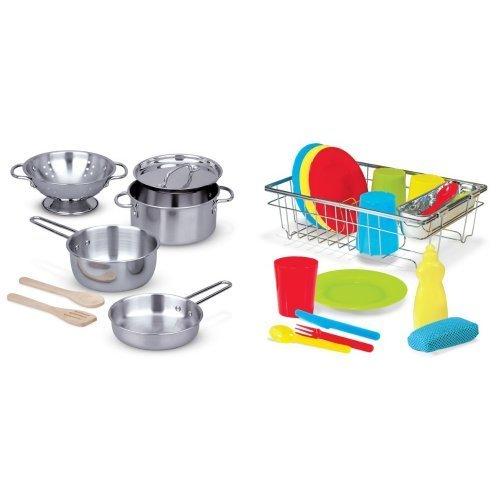 Melissa & Doug Let's Play House! Pots Pans & Dish Set Bundle [並行輸入品]   B074V8LJY1