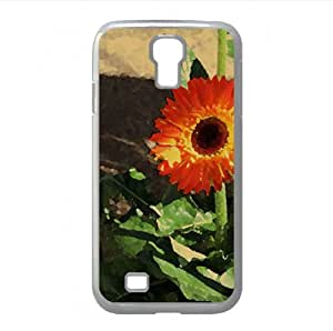 Gerbera Watercolor style Cover Samsung Galaxy S4 I9500 Case (Flowers Watercolor style Cover Samsung Galaxy S4 I9500 Case)