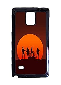 Daft Punk - Get Lucky Custom Image Case, Diy Durable Hard Case Cover for Samsung Galaxy Note 4 , High Quality Plastic Case By Argelis-Sky, Black Case New