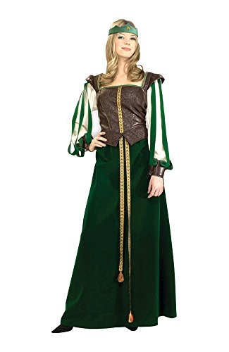 Forum Novelties Halloween Party Creepy Scary Costume Maid Marion Adult Large 14-16 (Teen Maid Marion Costume)
