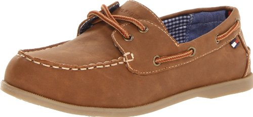 Tommy Hilfiger Kids Douglas Boat Shoe (Toddler/Little Kid/Big Kid),Brown,13 M US Little Kid
