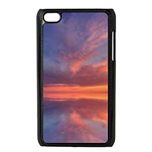 Customized Durable Case for Ipod Touch 4, Sunset Cloud Phone Case - HL-696863