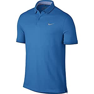 Nike TR Dry Washed Golf Polo 2016 Light Photo Blue/Midnight Navy Small