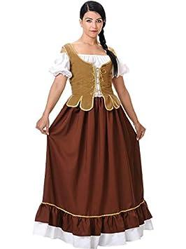 DISBACANAL Disfraz Medieval tabernera Mujer - Único, L ...