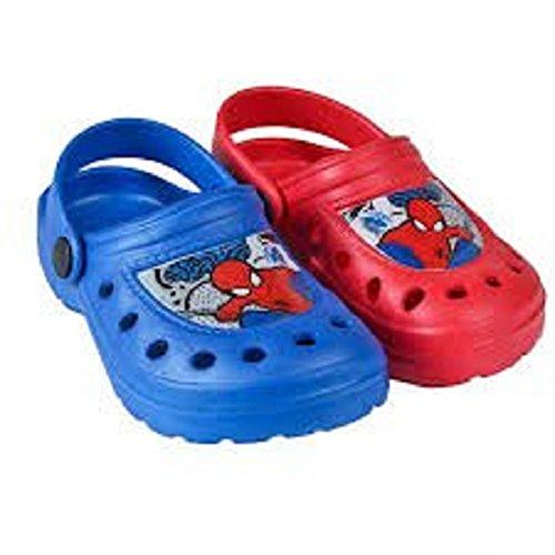 Spiderman Beach Mules Crocs Blue