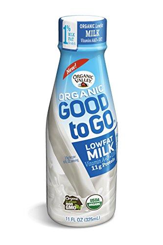 Organic Valley, Organic Single Serve 1% Lowfat Milk, 11 oz (Pack of 12)