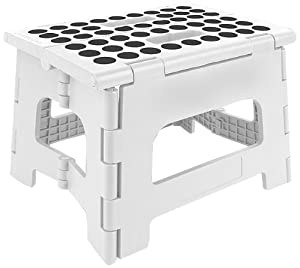 Amazon Com Kikkerland Rhino Ii Step Stool White Kitchen