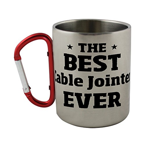 - Stainless steel mug with carabiner handle with THE BEST Cable Jointer EVER