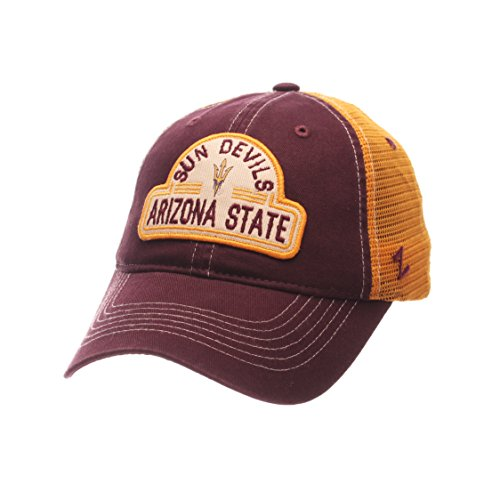 NCAA Arizona State Sun Devils Adult Men's Route Relaxed Cap, Adjustable Size, Team Color ()