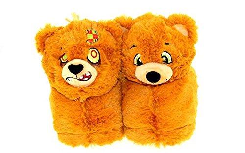 - Flipemz 2609-4 Bear to Zombie Bear Slippers - X-Large