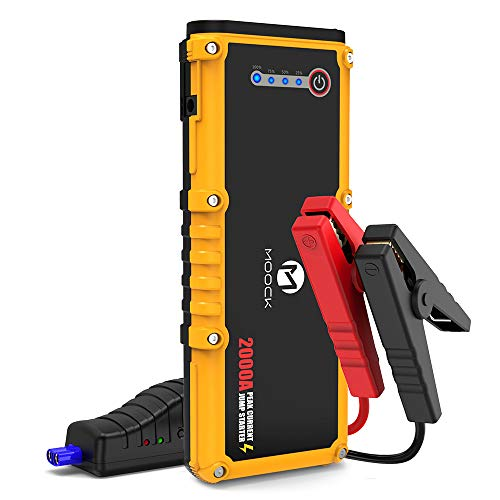 Best Review Of MOOCK 2000A Peak 12V Portable Car Jump Starter(up to 10L Gas or 7L Diesel Engine) Aut...