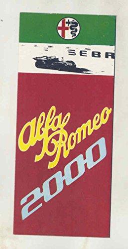 Alfa Romeo 2000 Spider Veloce - 1972 1973 Alfa Romeo 2000 Spider Veloce Berlina GT Veloce Brochure Canada