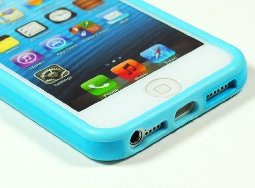 Bastex Bumper en TPU pour Apple iPhone 5/5S 5ème génération Bleu clair