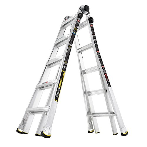 Gorilla Ladders 22 Foot MPX Aluminum Telescoping Multi-Position Ladder with 375 lb. Load Capacity Type IAA Duty Rating