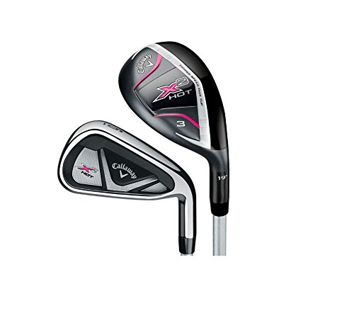 Callaway Women's X2 Hot 8-Piece Set, Right Hand, Graphite, Ladies, 4H 5H 6-PW and AW