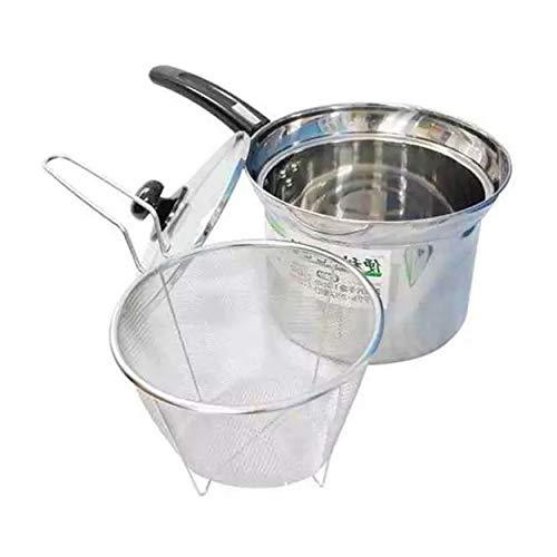 CNluca For 18 cm Acero Inoxidable Sartén Leche Para Cocinar Olla Fideos Cacerola Con Tapa Con Filtro En Casa Accesorios De...