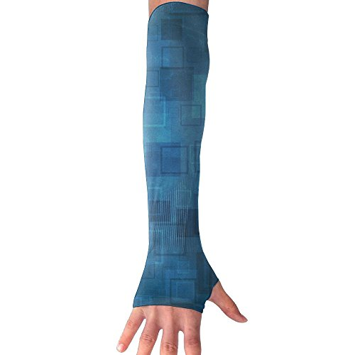 HBSUN FL Unisex Abstract Blue Graphical Anti-UV Cuff Sunscreen Glove Outdoor Sport Riding Bicycles Half Refers Arm Sleeves by HBSUN FL