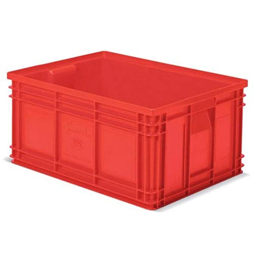 Disset Odiseo FPJ73510003 Zeus Series Plastic Box with Side Handles, Red, 450 mm x 300 mm x 300 mm