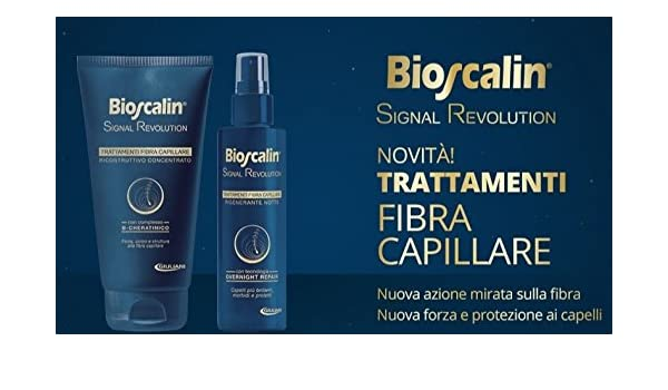 bioscalin Signal Revolution Regenerante Noche 100 ml + ricostruttivo Concentrado 150 ml tratamientos Fibra capilar: Amazon.es: Belleza