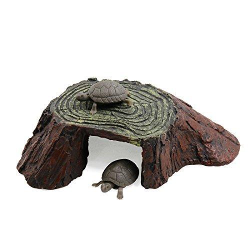 eDealMax Marrone Verde resina Paesaggio subacqueo Tartaruga Salite Pietra Habitat Decorazione per ()