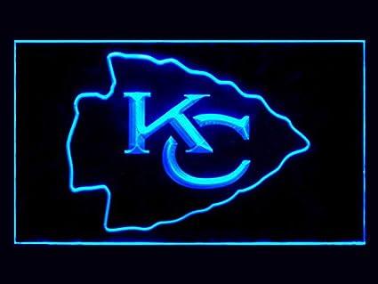 Amazoncom Kansas City Kc Chiefs Led Light Sign Blue Home Kitchen