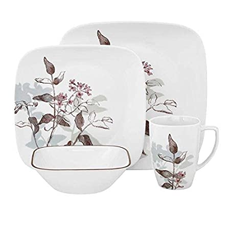 Corelle Twilight Grove 16pc Square Dinner Set