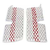 LTWHOME Replacement Microfiber Scrub Mop Pads Fit for Vileda O-Cedar ProMist MAX Spray Mop (Pack of 2)