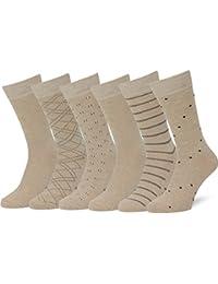 8f6289648522 Men's 6pk Classic Cotton Solid & Patterned Dress Socks