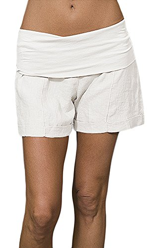 Fold Over Shorts (Medium, White) (Fresh Short)