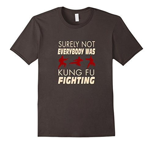 Mens Best Price Surely Not Everybody Was Kung Fu Fighting TShirt Large - Fashion Trending Now