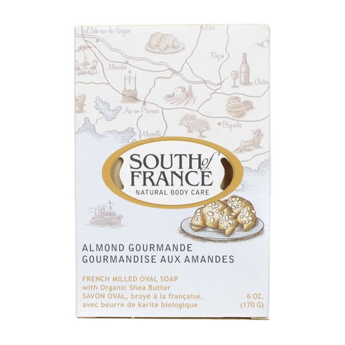 South of France Natural Bar Soap, Almond, 6 Ounce