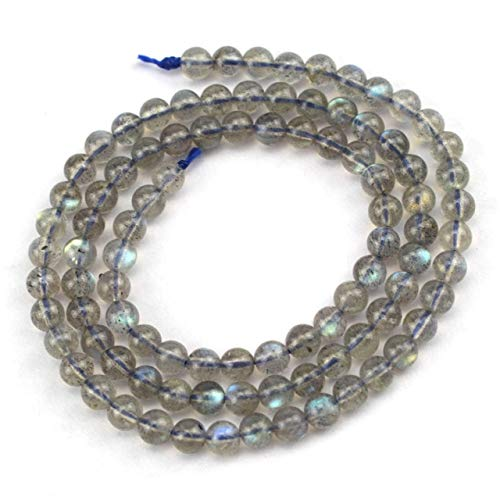 (Calvas AAA Moonstone Labradorite Stone Beads Natural GEM Stone Beads DIY Beads for Jewelry Making Strand 15