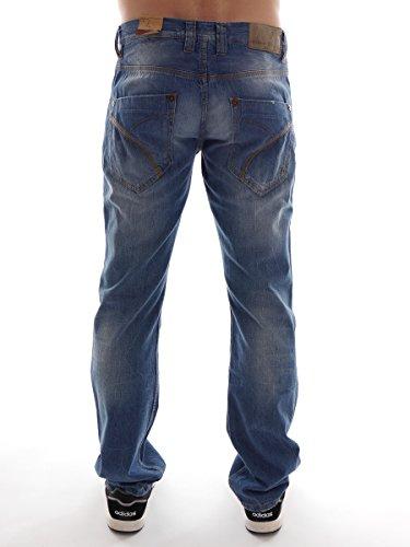 Freeman T.Porter Jeans Hose Denim Enzo 5027 blau Used Look Regular Fit GR: 33 25027 - Enzo
