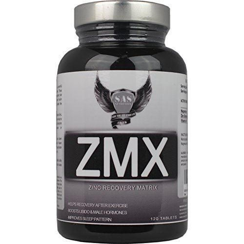 SAS ZMX 120 Tabs (Muscle Strength Growth and Sleep Enhancer) Formerly Z.M.A (Zinc Monomethionine Aspartate) by SAS Nutrition by SAS Nutrition