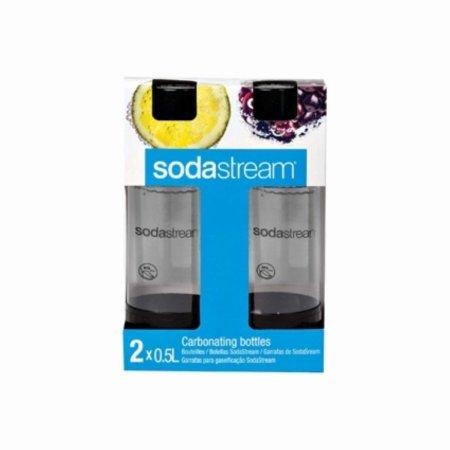 SodaStream 0.5l Carbonatingボトル( Twinpack )トラベルサイズ ブラック B014NP2DJS  ブラック