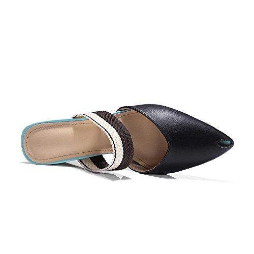 GJDE Pescado Sandalias Mujer Black Cabeza con Zapatillas Informal Verano Verano y de Vestido de Gruesa Pequeño Femenina gr7qw0g