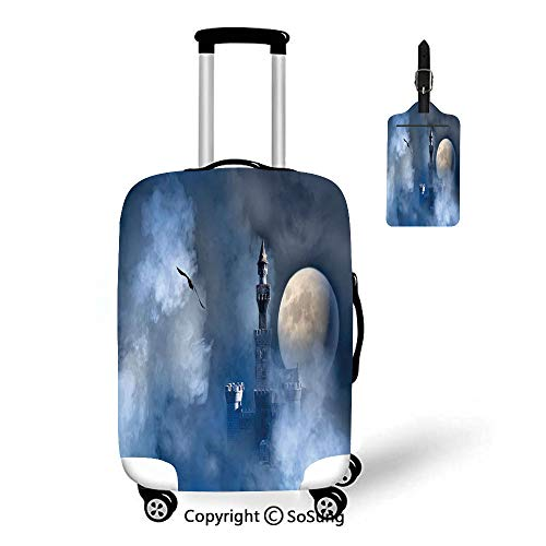 Fantasy 3D Printed Luggage Cover & Luggage Tag,Fit for 23-26