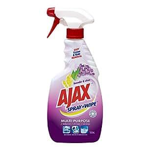 Ajax Spray n Wipe Spray'N'Wipe Multipurpose Cleaning, Lavender & Citrus, 500ml