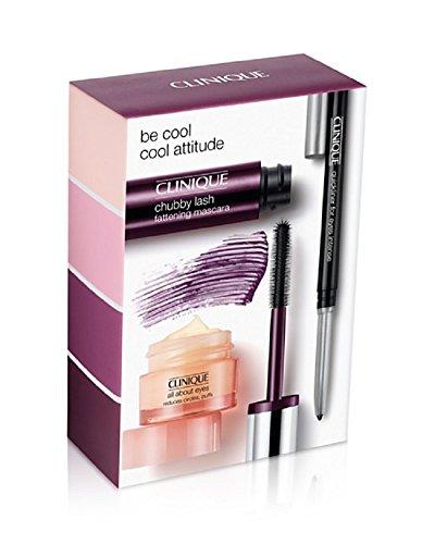 Clinique Be Cool Eye Kit 3 pcs Set. Eye Cream, Mascara in Portly Plum, Eyeliner