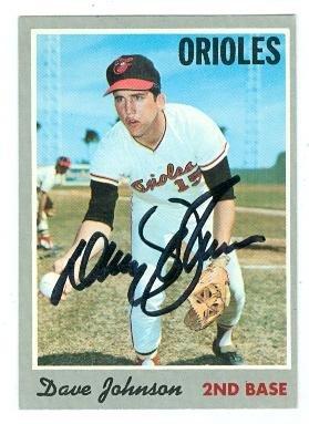 Davey Johnson autographed baseball card (Baltimore Orioles) 1970 Topps No.45