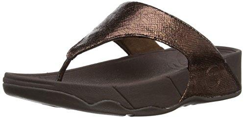 FitFlop Women's Lulu Lustra Flip Flop,Bronze,9 M US