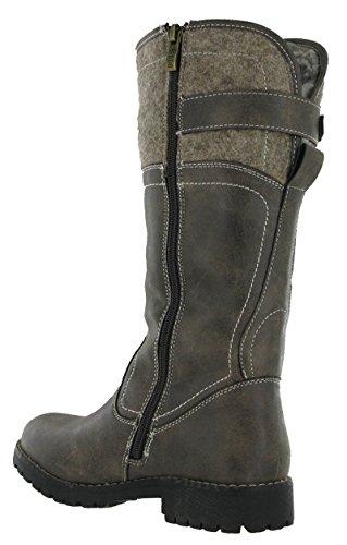 Keddo - botas estilo motero mujer marrón