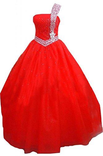 sera porta Sunvary donna da Tulle abiti abiti sera Rosso Una da spalla xOH4w0IHq
