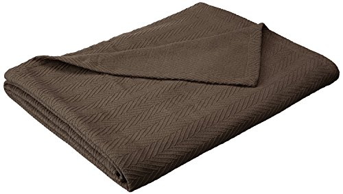 - Superior 100% Cotton Thermal Blanket, Soft and Breathable Cotton for All Seasons, Bed Blanket and Oversized Throw Blanket with Metro Herringbone Weave Pattern - Twin Size, Charcoal