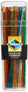 36-ct DIAMOND COCKTAIL PLASTIC STIRRERS