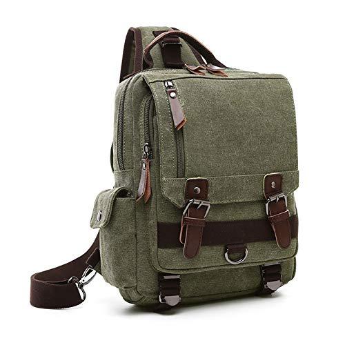 Bolsa mensajero Green viaje cruzado bolso hombres Army mujeres bolsa para escolar mochila cuerpo bolsa Lona Haowen 5qABFF