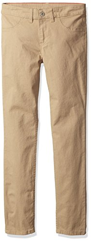 Dickies Girls' Super Skinny Stretch Pant, Rinsed Desert Sand, 12
